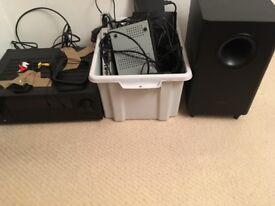 Pioneer TV Surround Sound Speaker System & job lot of TV Electronics