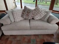 3 Seater sofa (Ex Large) and single chair - fabric material (Oatmeal)