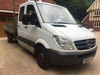 2009 Mercedes Sprinter 311 2.2 Cdi Diesel Pick Up Drop side LWB 7Seater ROAD TAX and MOT