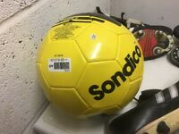 Brand new Sondico Football and a pair of Diadora football boots (size 8.5)