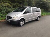 STUNNING MERCEDES VITO EIGHT SEATER WITH PRIVACY WINDOWS
