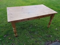 Solid wood table with lots of character