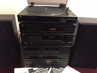 JVC Stacking system Turntable/CD/AMP/TAPE/RADIO with speakers