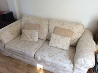 3 Seater Hopewells Sofa with removable washable covers - very good condition