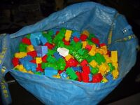 Lego bricks large Ikea bag of over 500 + assorted sizes/ types. free local delivery.