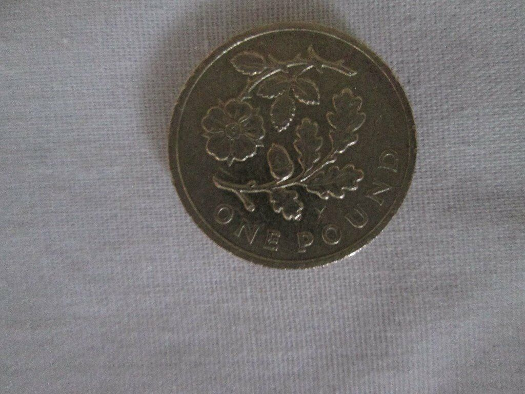 £1 - 1 pound rose and oak england 2013 coin