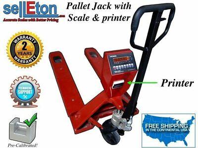 Op-918p Jack Pallet Wprinter Digital Display 5000 Lbs X 1 Lb Industrial Scales