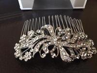 Diamanté hair clip. Wedding? Prom?