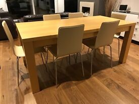 6 chrome/faux leather chairs and free table!