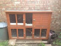 LARGE DOUBLE HUTCH, Needs some TLC £20, Collection only