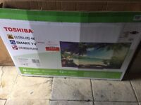 "Toshiba 49"" smart ultra hd 4K Tv 3 months old"