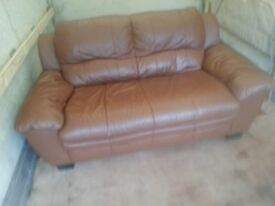 cute brown leather sofa