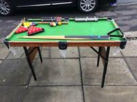 Small standing snooker table