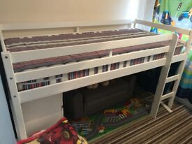 Mid sleeper bed single excellent condition