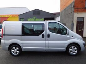 Finance me.. Vauxhall Vivaro swb 6 seat factory fitted crew van 1 owner from new F/S/H no vat (2)