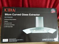 900 MM CDA ECP92SS COOKER HOOD UNUSED AND STILL IN BOX