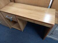NEW Oak Effect 1 Drawer Dressing Table/Desk