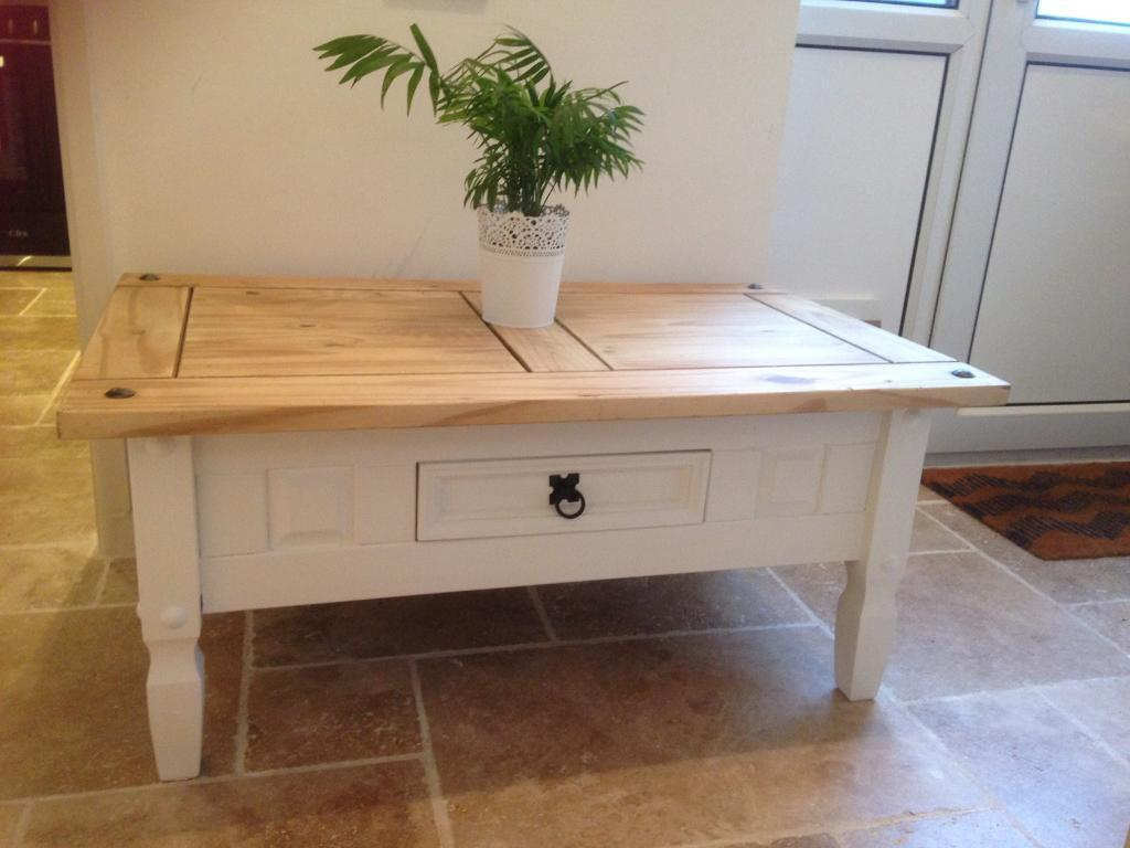 Mexican Pine Coffee Table Shabby Chic Mexican Pine Table In Laura Ahley Ivory In
