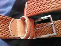 "Leather belt 34"" waist"