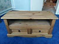 Corona Mexican pine entertainment stand TV stand £50 ono