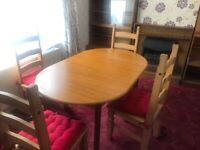 Dinning table and 4 chairs can deliver