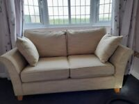 Next Two Seater Sofa Mustard Woven Weave. Excellent condition