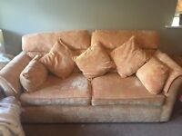 3 seater sofa including cushions and arm rest covers