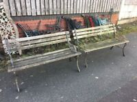 Pair Of Cast Iron Garden Benches Can Deliver
