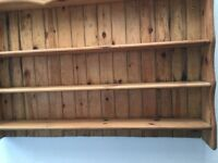 Old pine stripped shelves