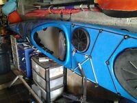 P&H Scorpio Sea sea kayak. Blue.