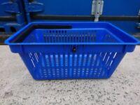 Used Plastic Shopping Basket - Blue - £3 Each