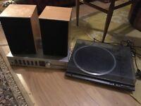 Technics Sl 8020 Turntable w/ Toshiba amp & 2 Gale monitors
