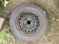 Vauxhall corsa wheel and tire 155/80/13