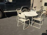 Retro Vintage Garden Furniture Table and 4 chairs