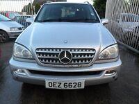 mercedes ml 270 cdi auto silver 2003