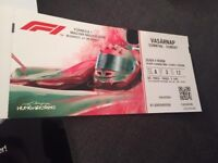 TWO F1 Hungarian Grand Prix Tickets 2018 - Silver 4 - Row 3 - Sunday 29th July - RACE DAY