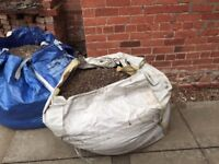 Two dumpy bags of pebbles/soil/aggregate (ideal for filling in holes or ponds)