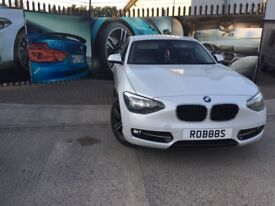 BMW SERIES 1 - 2013- PEARL WHITE - FBMWSH - LOW MILEAGE