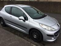 08 peugeot 207 s-1397 cc.3 door hatchback.12 months mot/warranty/low mileage 64000 miles