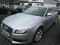 Audi A5 2.0 TDI SPORT 2dr COUPE MANUAL (6) 170bhp + BLACK LEATHER + SERVICE HISTORY (silver) 2009