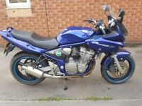 New exhaust fitted very loud, one very small dent on tank. 12 months mot well looked after.