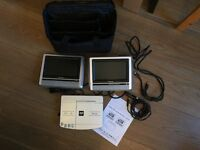 "Portable DVD System with Dual 7"" Screen"