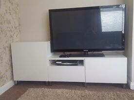 White tv Stand Cabient. Two seperate units