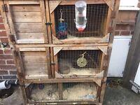 Three tier rabbit hutch for sale in York