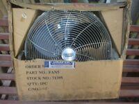 """chrome floor fan 18"""" approx"""