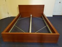IKEA Malm Double Bed Frame - light beech effect - delivery available