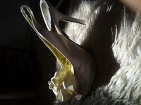 Schun Satin Bridal shoes (SIZE 4) and free bridal bag