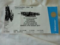 1 ticket for Alvvays on Sunday 27th August 2017 at St. Luke's Glasgow £10 sold out gig