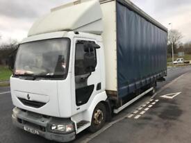 Renault Midlum 150 bhp curtain side Truck spares or repairs export