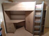 High sleeper cabin bed